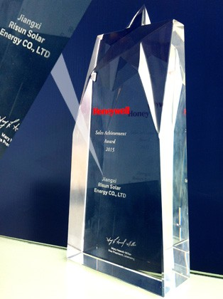 """November 2015, Our company was awarded the Honeywell sales achievement award""""."""