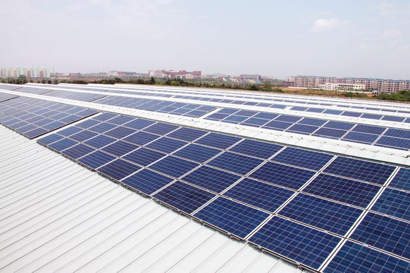 公司光伏项目-37MW光伏电站之公司组件厂屋顶项目